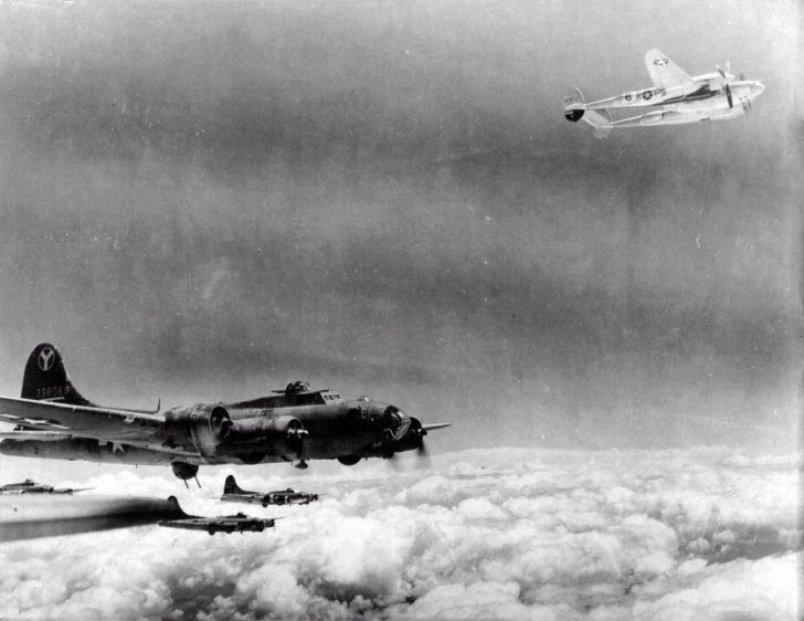 B-17, P-38