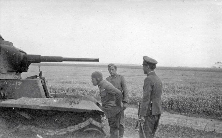 German soldier, Japanese pilot, Japanese officer, BT-7