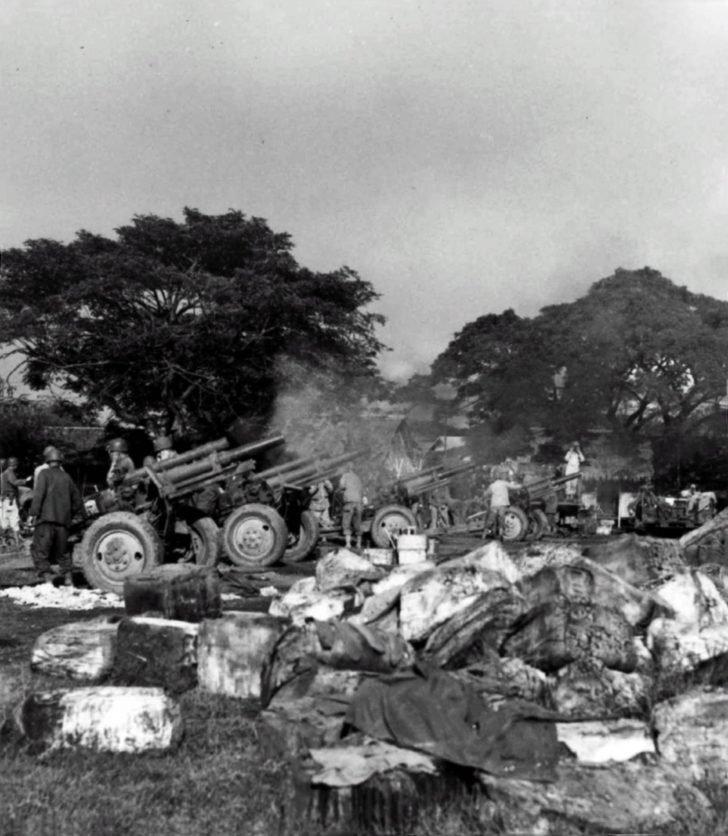 105-mm howitzers