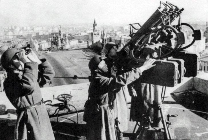 Maxim quadruple antiaircraft machine gun