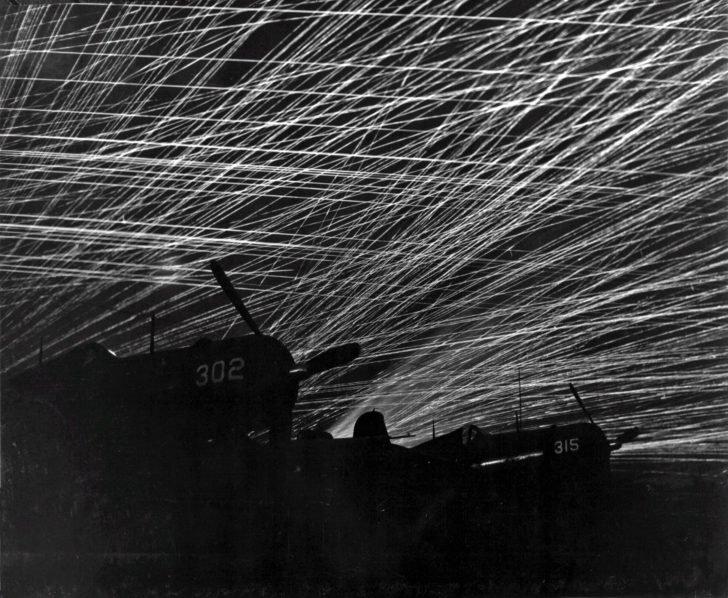 Night anti-aircraft fire