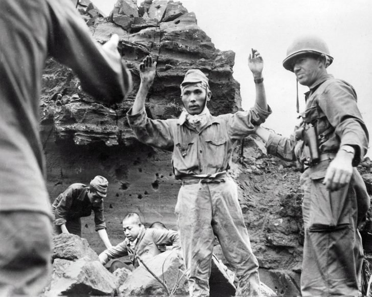 Japanese soldiers surrender