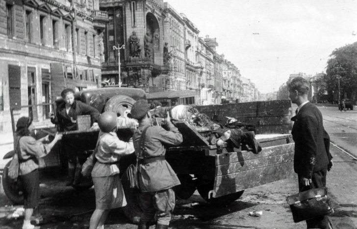 victims of the artillery bombardment