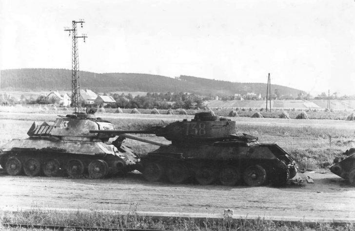 damaged T-34-85