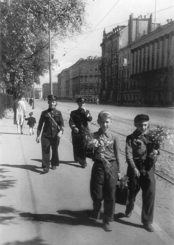 Leningrad schoolchildren