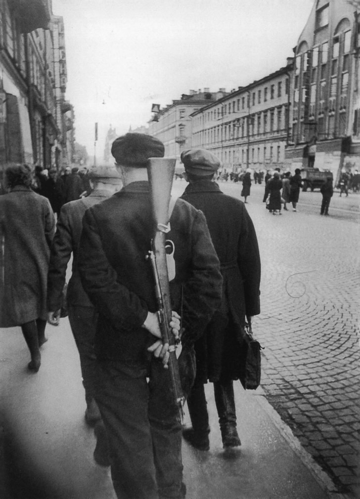 Armed militiaman