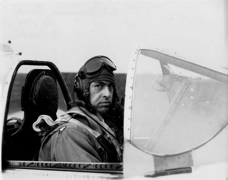 American pilot of the P-51 Mustang