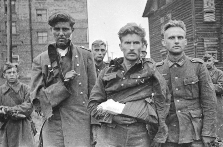 Captured German soldiers