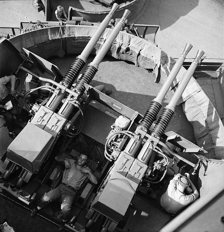 Bofors antiaircraft guns