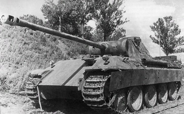 The abandoned tank Panther