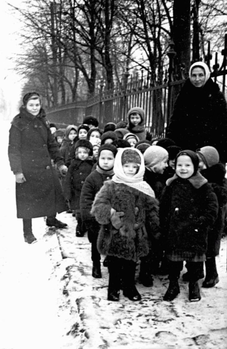 Children from the Leningrad kindergarten