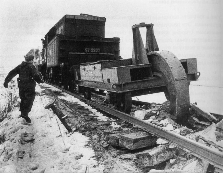 Nazis are destroying the railroad
