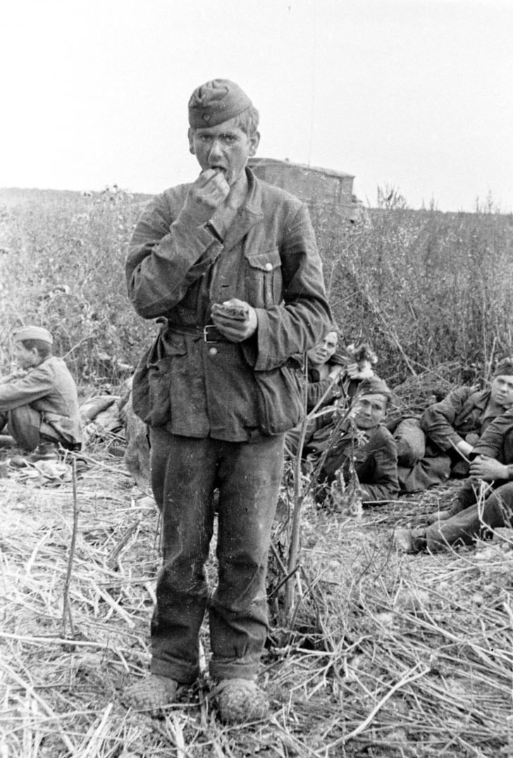 Captive German soldier