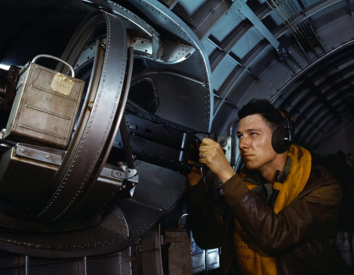 Air gunner B-17 Flying Fortress