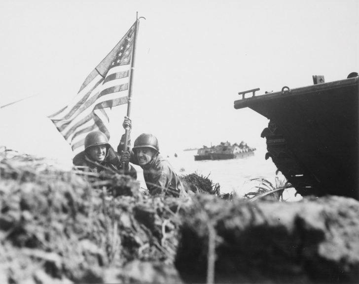 American flag over Guam