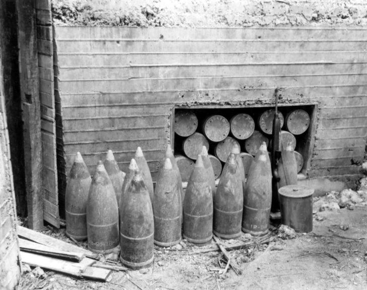 Japanese artillery shells
