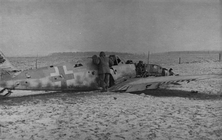 downed Messerschmitt Bf-109