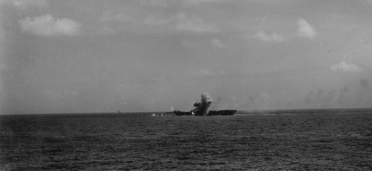 Explosion on the Essex aircraft carrier
