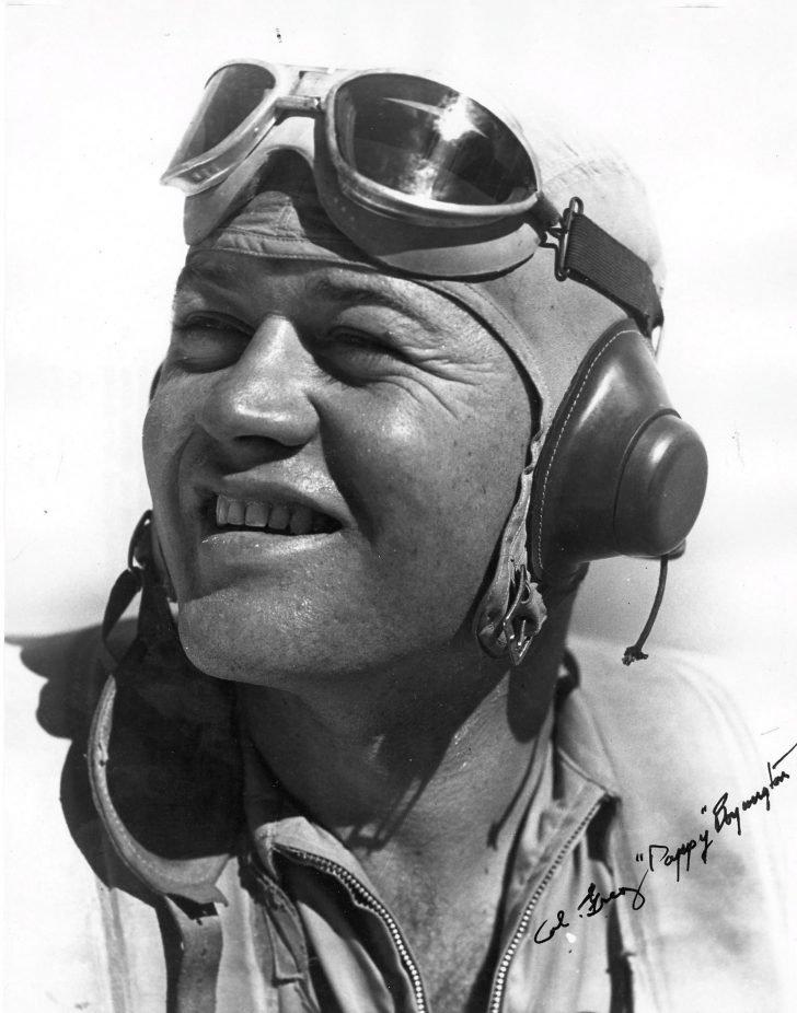 American air ace Major Gregory Pappy Boyington