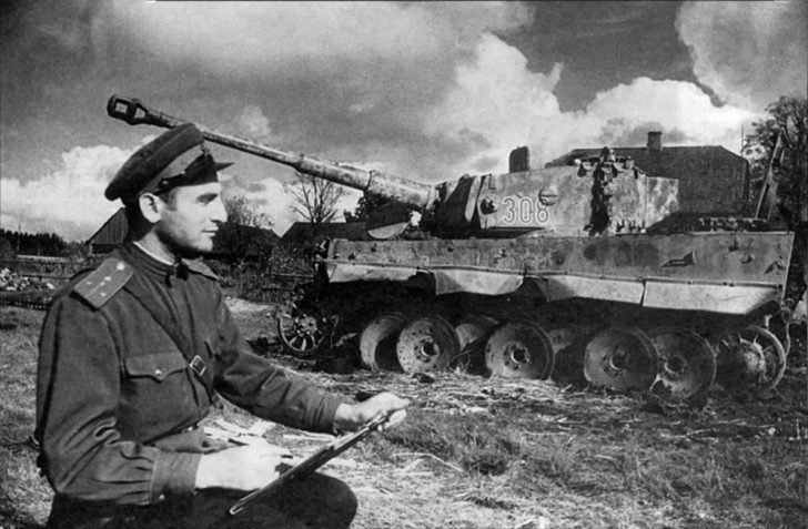 destroyed Tiger I