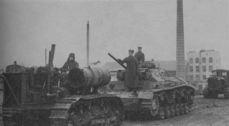 Captured German tanks