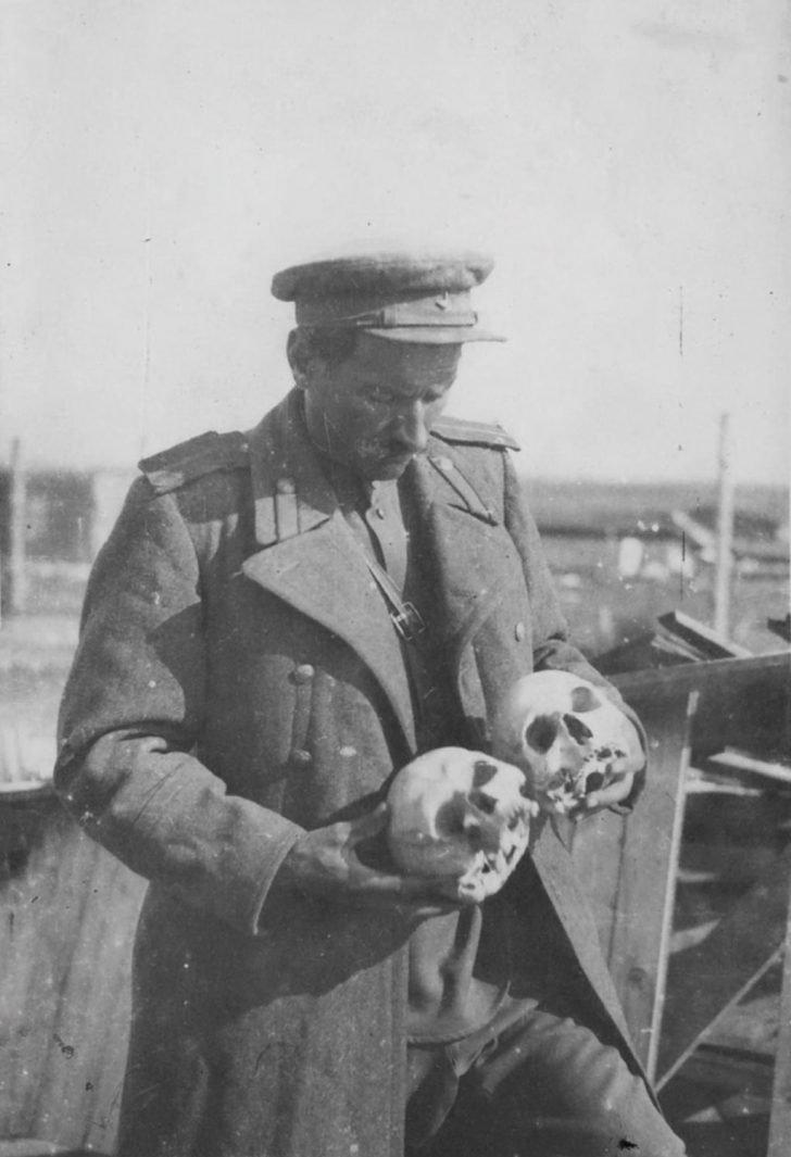 remains of prisoners of the Majdanek