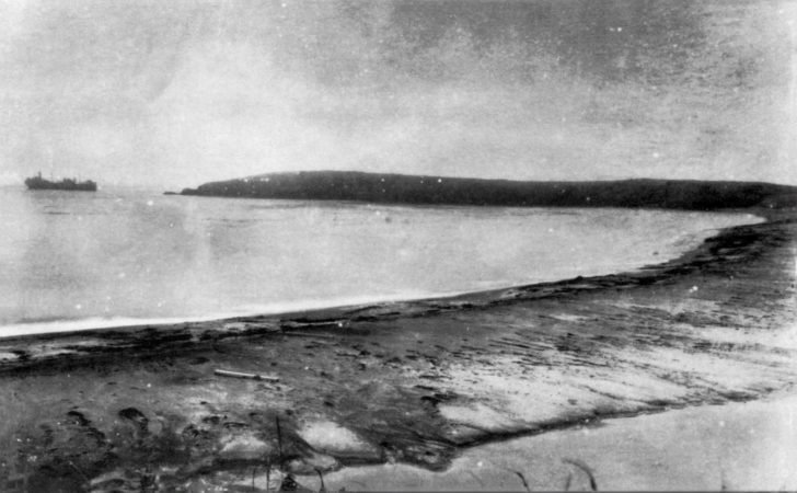 Mariupol tanker on Shumshu Island