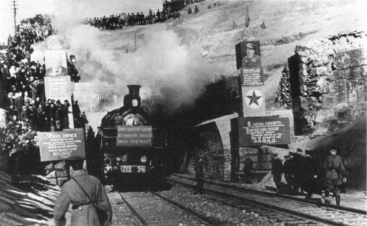 railway tunnel in the Carpathians