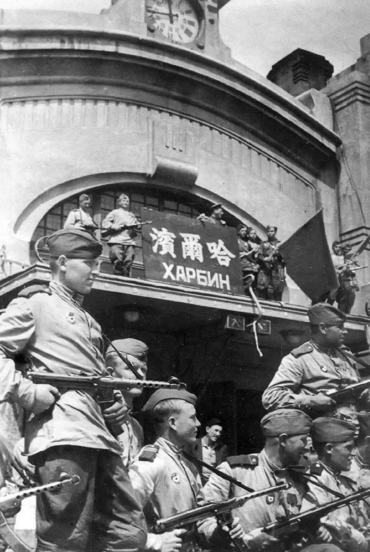 Soviet soldiers in Harbin