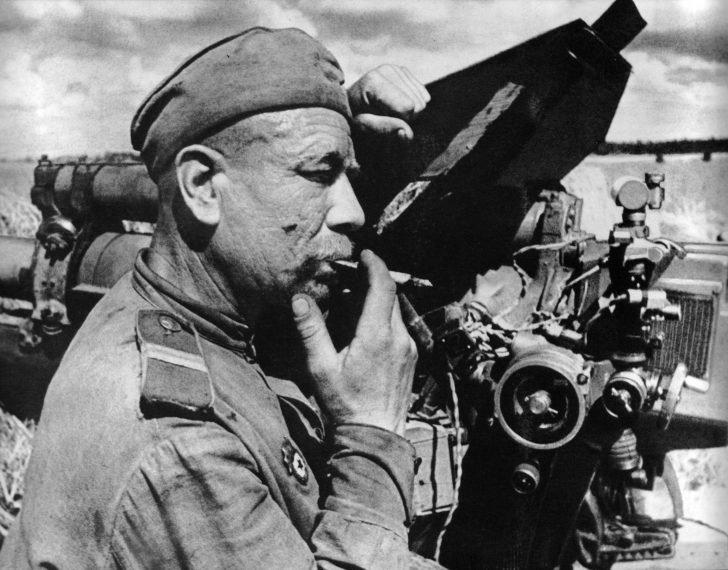 Soviet artilleryman