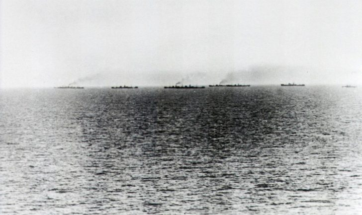 Allied naval convoy