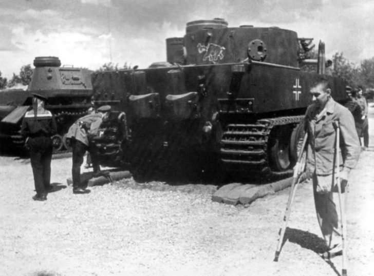 exhibition of captured German military equipment in Moscow