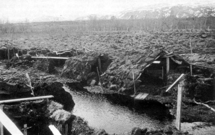 dugouts of Soviet prisoners of war