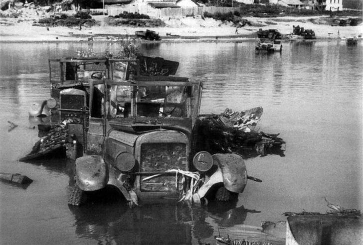 Soviet automobile convoy