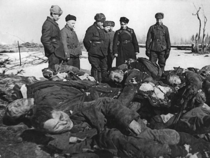 The corpses of prisoners of war