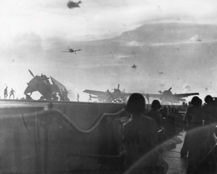 Japanese kamikaze attacks