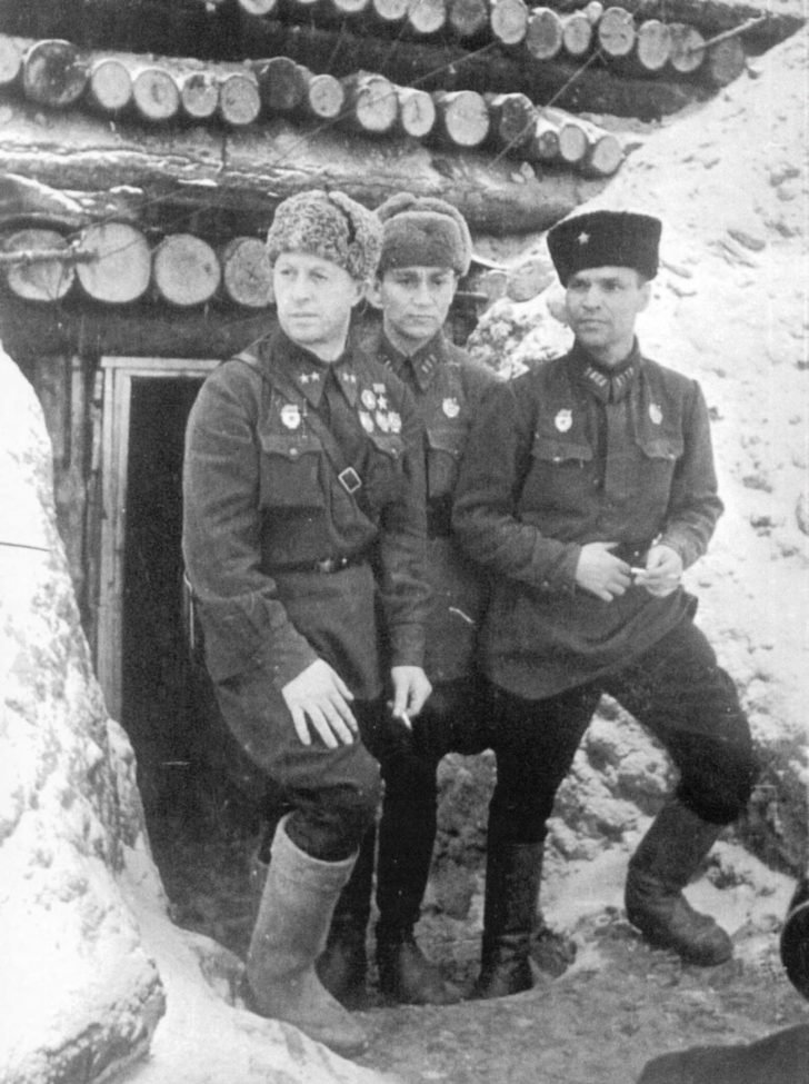 Command personnel of the 13th Guards Rifle Division