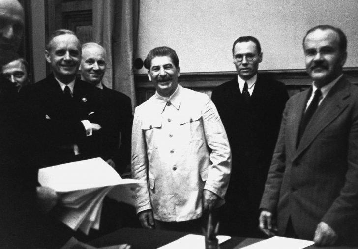 Joseph Stalin, Vyacheslav Molotov, Joachim von Ribbentrop
