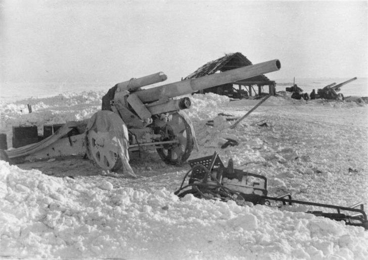 German howitzer battery