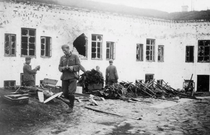 German soldiers in Brest Fortress