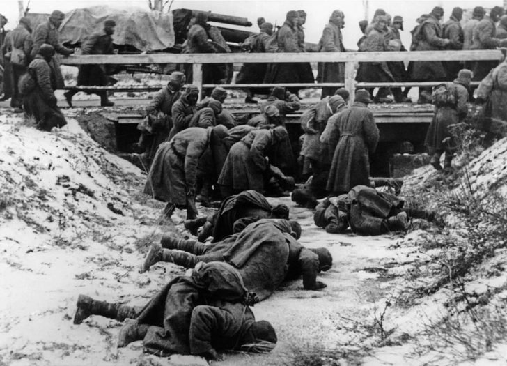 Prisoners of war from the Red Army