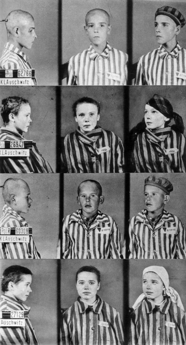 children prisoners of the Auschwitz