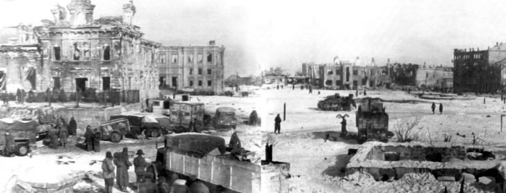 station square of Stalingrad