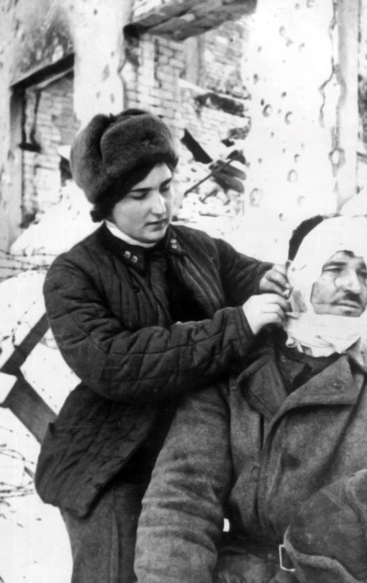 Military paramedic Lyudmila Gumilina