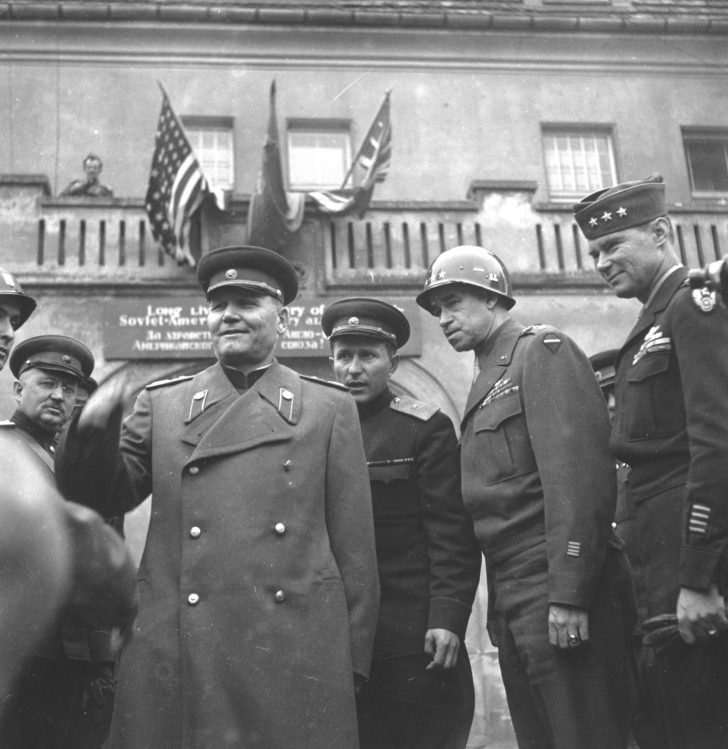 Meeting of Marshal Ivan Konev and General Omar Bradley in Torgau