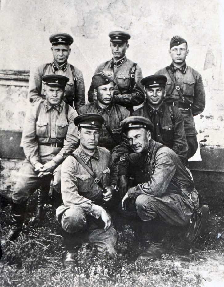 Officers of the 13th Motorized Rifle Division of the NKVD on the day of transfer to the Red Army