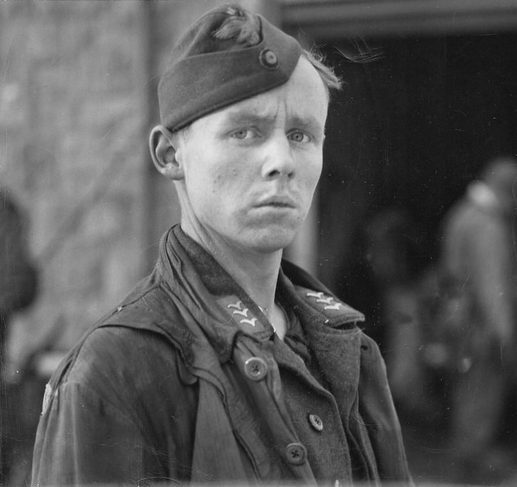 A soldier of the Airborne Forces of the Wehrmacht