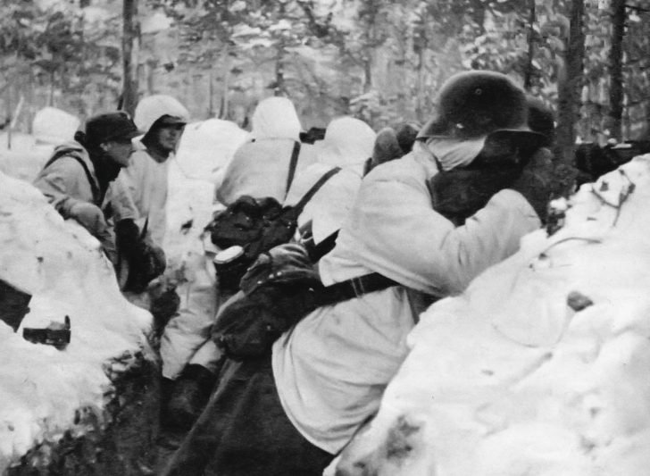 Finnish soldiers in  the Battle of Suomussalmi