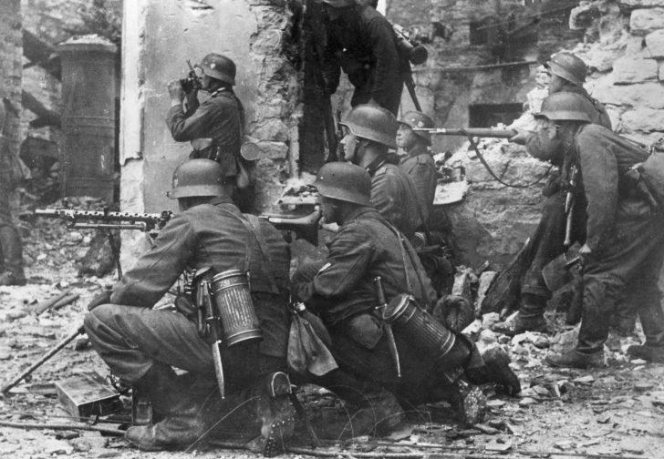 German soldiers in the Battle of Tallinn