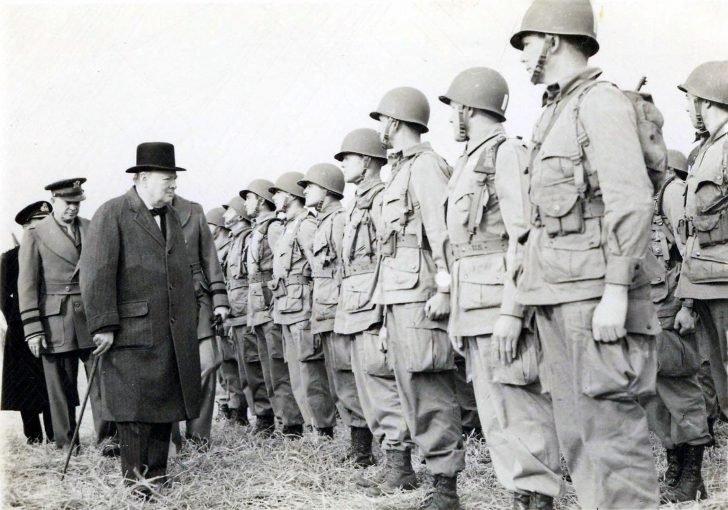 Winston Churchill, Dwight Eisenhower, 101st airborne division